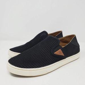 Olukai Pehuea Women's Slip-On Mesh Black Sneakers